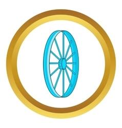 Bicycle wheel symbol icon vector