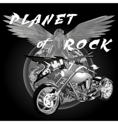 planet of rock vector image