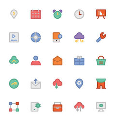 SEO and Marketing icons 8 vector image vector image