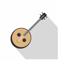 african guitar icon flat style vector image vector image