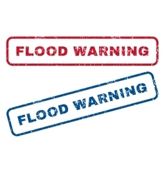 Flood Warning Rubber Stamps vector image vector image