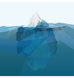 Iceberg polygonal background vector image
