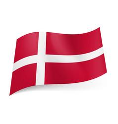 national flag of denmark white scandinavian cross vector image vector image