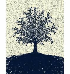 textured tree vector image vector image