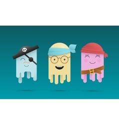 Three cute octopuses vector image