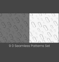 0 9 nuber seamless patterns set numbers colorful vector image