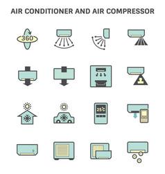 20190414 air conditioner icon 6 blue vector image