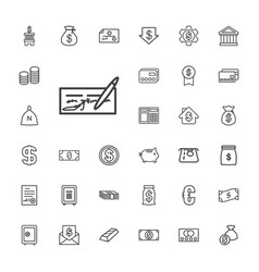 33 banking icons vector