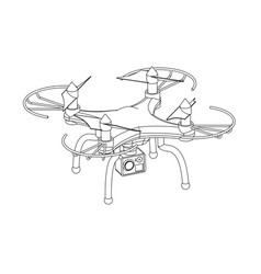 3d quadcopter model on a white vector image