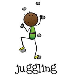 A stickman juggling vector image