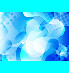 abstract background blue liquid gradient shapes vector image