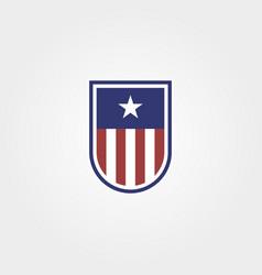 american emblem with shield logo symbol design vector image