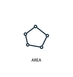 Area icon simple element area vector