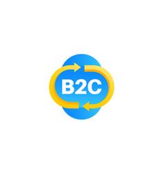 B2c service icon on white vector