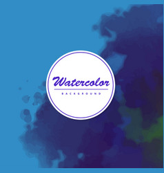 beautiful watercolor background vector image