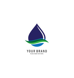 bio droplet logo vector image