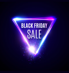 black friday background triangle logo design vector image