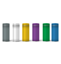 Blank tincan packaging with different colors vector