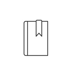 book bookmark line icon simple modern flat for vector image