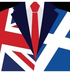 Brexit concept British flag Scottish flag vector