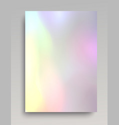 Bright hologram backdrop vector