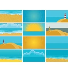 business cards for travel agency vector image