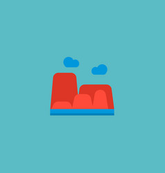 canyon icon flat element of vector image