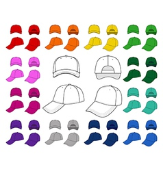 Cap outlined template vector