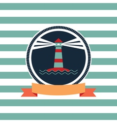 card on sea theme vector image