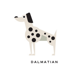 cartoon dalmatian character icon isolated on white vector image