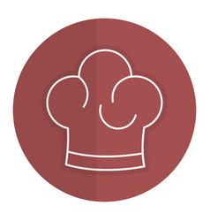 Chef hat isolated icon vector