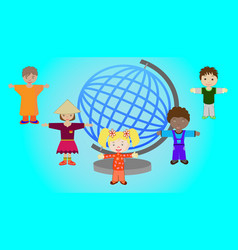 Children of different nations of the world vector