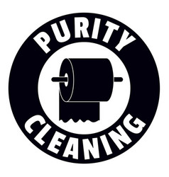 cleaning toilet logo simple black style vector image
