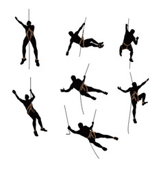 Climber silhouette two color vector