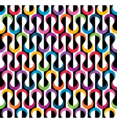 Colored geometric pattern vector