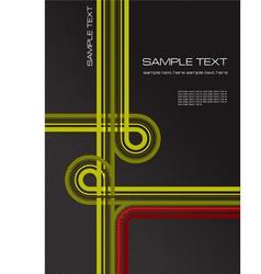 Cover for office folder vector