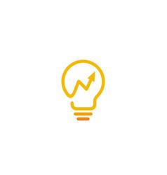 Creative abstract bulb arrow logo design symbol vector