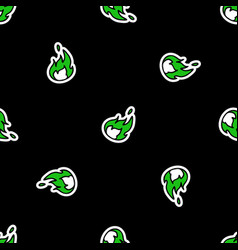 Cute punk rock flame background pattern vector