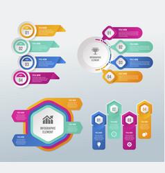 digital business infographic design vector image