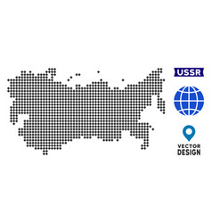 Dotted ussr map vector
