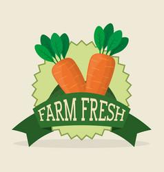 farm fresh vegetables liifestyle healthy sticker vector image