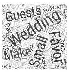 Favors for weddings Word Cloud Concept vector