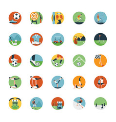 Flat icon set of sports icon vector