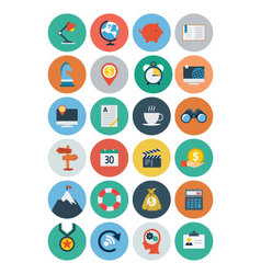 Flat seo and marketing icons 2 vector