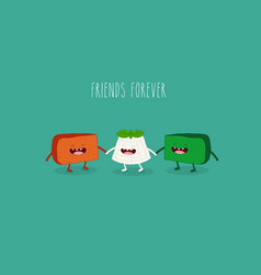 Friends of cheese vector