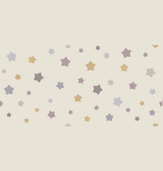Funny baby seamless star pattern vector