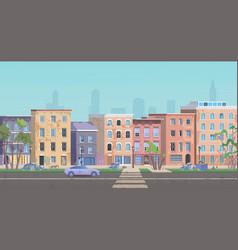 Ghetto landscape cartoon flat vector