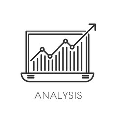Graphic in laptop business analysis and vector