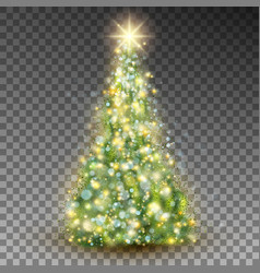 Green abstract christmas tree eps 10 vector