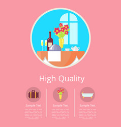 high quality service in hotel vector image